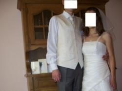 suknia ślubna (welon, bolerko, ozdoby GRATIS)