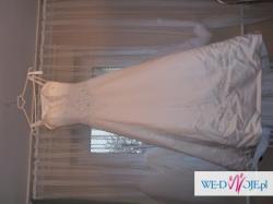 Suknia ślubna, welon, rękawiczki (białe)