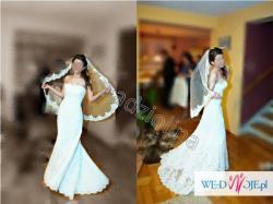 Suknia ślubna White One 176, rozmiar 34/36 +welon +ramiączka