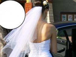 Suknia ślubna własnego projektu r. 36 (biała)