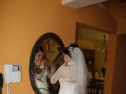 suknia ślubna wraz z bolerkiem