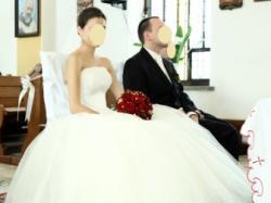 Suknia ślubna wyszywana perełkami!!! Cudo !!! rozmiar 36-38