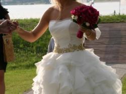 Suknia ślubna wzorowana na sukni Maciej Zień