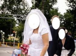 Suknia ślubna z bardzo długim trenem - PIĘKNA!!!