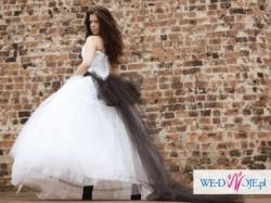 """Suknia ślubna z białego tiulu """"Snowflake"""""""