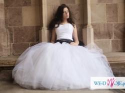 """Suknia ślubna z biłaego tiulu """"Snowflake"""""""