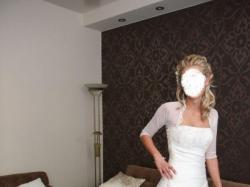 suknia ślubna z bolerkirm