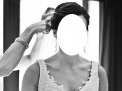 Suknia ślubna z długim welonem-cena do negocjacji