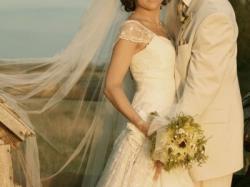 Suknia ślubna z Emmi Mariage model Florence po kilku gustownych przeróbkach