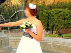 Suknia ślubna z grafitowym pasem rozmiar 40/42 litera A