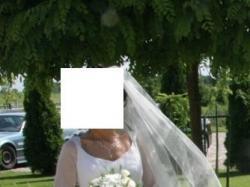 suknia ślubna z jedwabiu