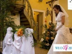 Suknia Ślubna z kamieniami imitacja bursztynów!!!