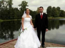 Suknia ślubna z kamieniami Swarovskiego -172 cm + 5-7cm -Wrocław, Łódź, Suwałki