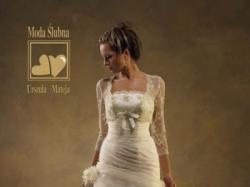 Suknia ślubna z kolekcji U. Mateja 2007 (model 624b)