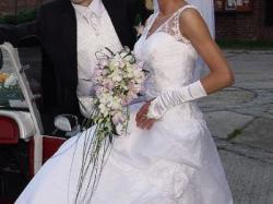 Suknia ślubna z kolekcji Urszuli Mateji