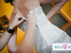 Suknia ślubna z koronki- IMPRESJA- kolekcja 2011