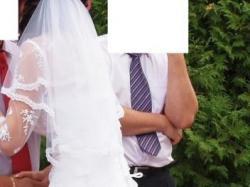 Suknia ślubna z koronki plus bolerko rekaw  3/4 z koronki