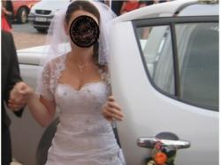 suknia ślubna z koronkowymi plecami