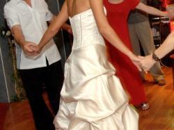Suknia ślubna z kryszt. Swarovski Kolor Gold 36-38 z USA