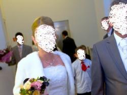 Suknia ślubna z kryształkami Swarovskiego + bolerko