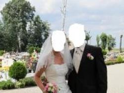 Suknia ślubna z kryształkami Swarovskiego + dodatki