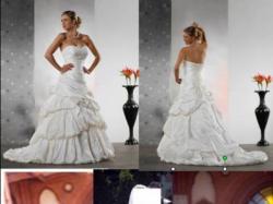 ***Suknia Ślubna z Madonny roz. 40*** kolekcja Tres Chic AQ009
