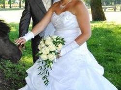 Suknia ślubna z MsMody z kryształkami Swarovskiego