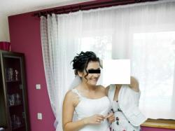 Suknia ślubna z muślinu + dodatki gratis