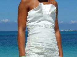 Suknia Ślubna z muślinu rozm. 34