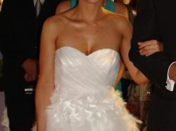 suknia ślubna z piórek
