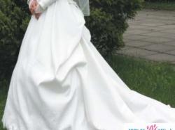 suknia ślubna z podpinanym trenem