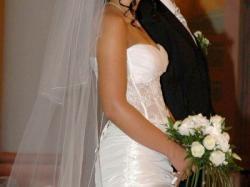 Suknia ślubna z pokazów mody Warszawa 2007