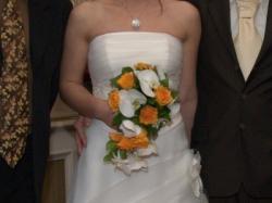 suknia ślubna z przepięknym koronkowym bolerkiem