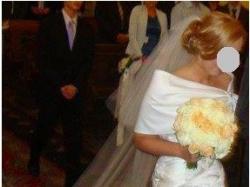 Suknia ślubna z salonu MADONNA atelier diagonal 1856, r.36 śmietankowa