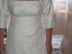 Suknia ślubna z satyny i muślinu:)