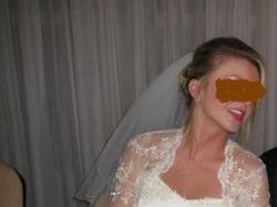 Suknia ślubna z subtelnej koronki