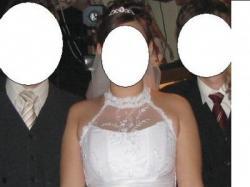 Suknia ślubna z Tafty biała