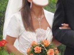 suknia ślubna z trenem 36/38 regulowana Słupsk
