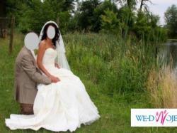 Suknia Ślubna z trenem- PIĘKNA!