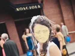 Suknia ślubna z wstążką UNICA GALA + halka, bolerko, woalka i welon