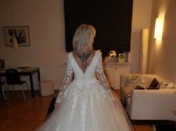 Suknia sprowadzona z Londynu.Rozmiar 38.