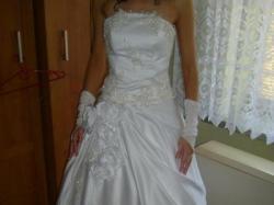 suknia srebrna koronka niska cena!