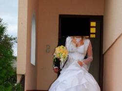 suknia śubna farage galaxy 4000 biała +buty +bolerko