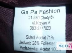 Suknia Sukienka GaPa Wesele Slub Studniówka Jedwab 38 Esencja elegancji