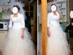 Suknia sukienka ślubna AGNES księżniczka szalona jak nowa 38 40 42