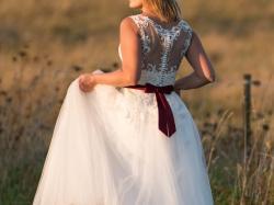 Suknia szyta na wzór Machiko r.36