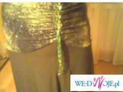 suknia w odcieniach zieleni z halką rozm.44