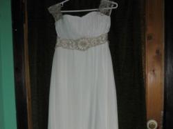 Suknia w stylu greckim-lekka,zwiewna(ecru)