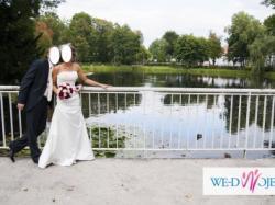 Suknia White One 3005 + tiulowe bolerko