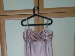 suknia wiczorowa slubna roz. s naturalny jedwab